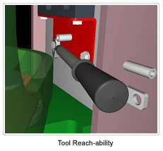 Geometric Process Planning & Assembly Validation Tool Reach Ability